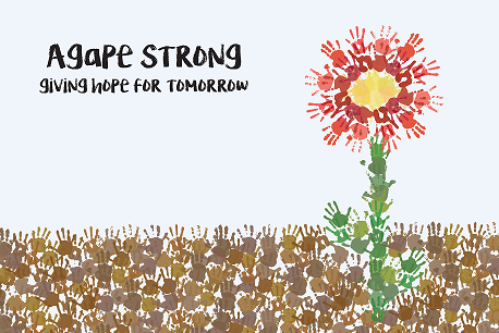 Agape Strong - Giving Hope for Tomorrow - Thank You card