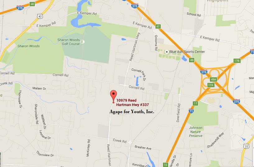 Map for Cincinnati Office
